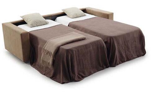 Sofá cama abierto