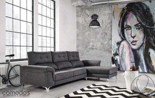 Sofá chaise longue diseño